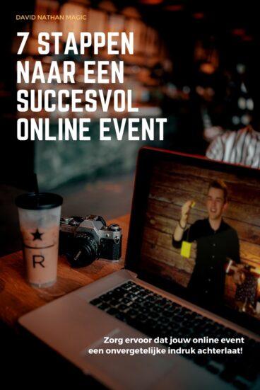 7 stappen naar een succesvol online event